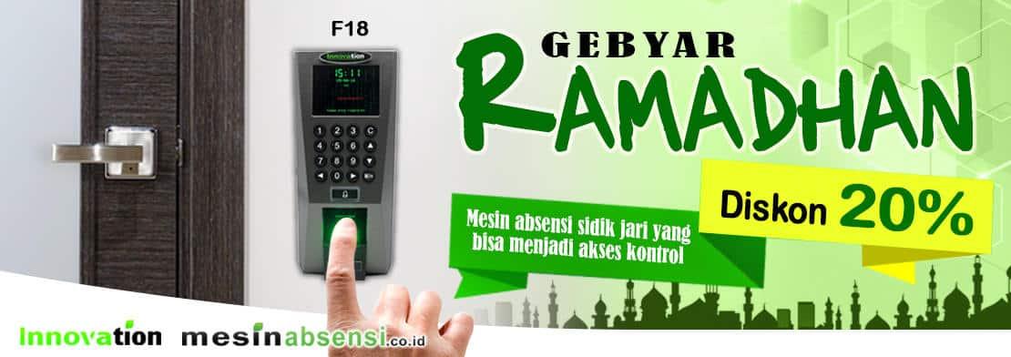 Diskon Gebyar Ramadhan Mesin Absensi & Akses Kontrol
